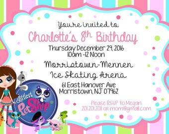 Littlest Pet Shop Birthday Invitation