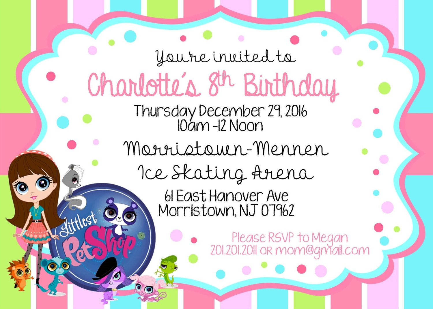 Littlest Pet Shop Birthday Invitation | Etsy