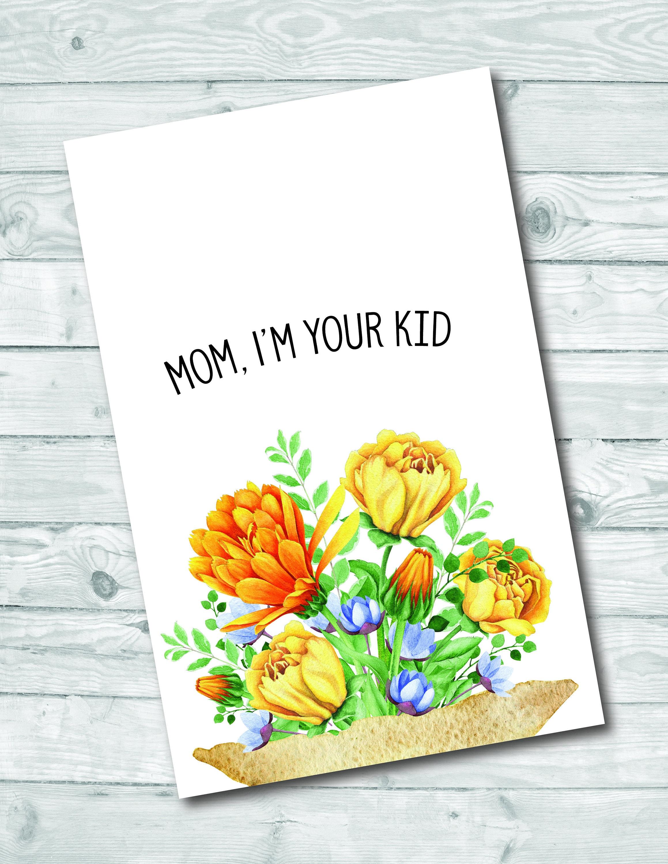 Mom Birthday Greeting Card / Physical or Digital Download