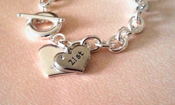 21st Birthday Gift For Her Personalised Bracelet