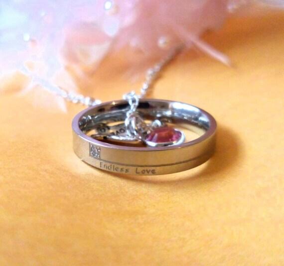 Collar De Cristal Amor Navidad presente Cumpleaños Regalo para ella Esposa Novia Mujer