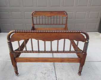 Peachy Items Similar To Antique Jenny Lind Bed Spindle Spool Full Ocoug Best Dining Table And Chair Ideas Images Ocougorg