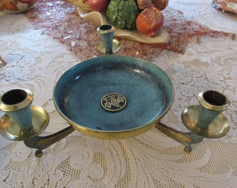 ISRAEL BOWL with CANDLE Holders