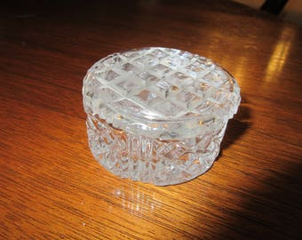 CRYSTAL TRINKET BOX with Lid
