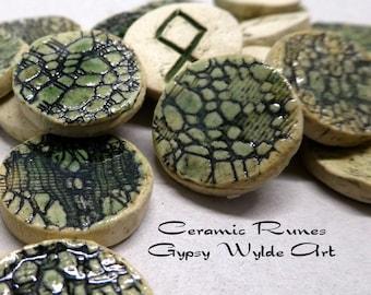 Ceramic Runes- Elder Futhark