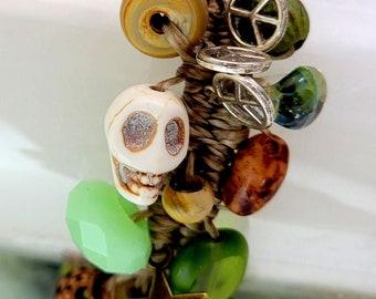 Naturally Charmed Skull Charm Bracelet
