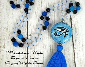 Meditation Mala- Eye of Horus/Ra Lion's Gate Edition