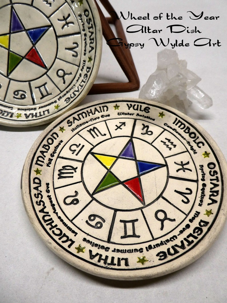 Wheel Of The Year Altar Dish image 0