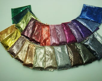 24 Metallic Luster Color 0.2MM 008inch Shining Plain Nail Glitter Powder for Nail Art DIY Makeup Glitter Craft decorations
