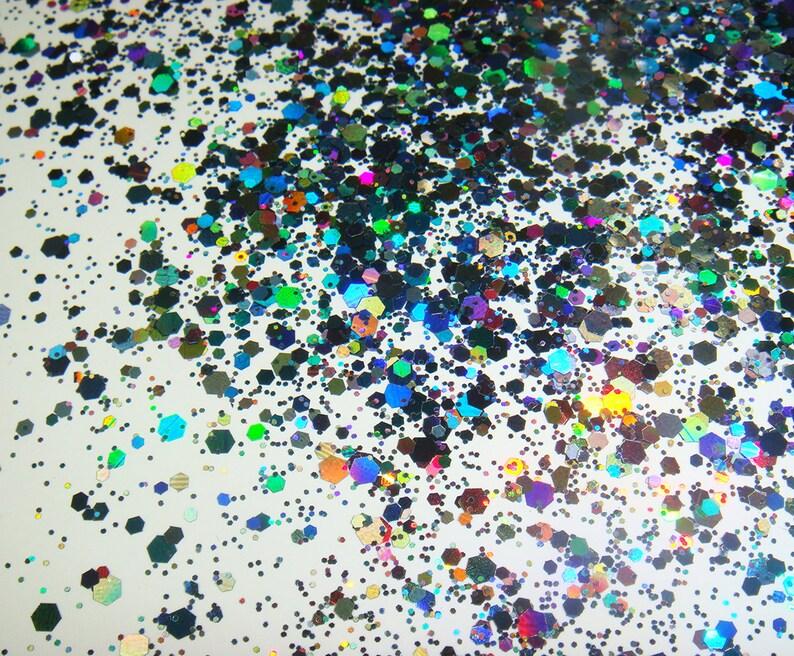 Nails Art & Werkzeuge Schönheit & Gesundheit 50 Gram X Holographische Laser Schwarz Farben Glitter Mix Hexagon Paillette Spangle Pulver Form Für Nail Art Glitter Handwerk Dekoration