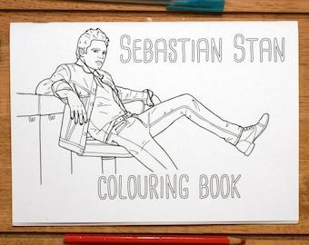 Sebastian Stan Colouring Book
