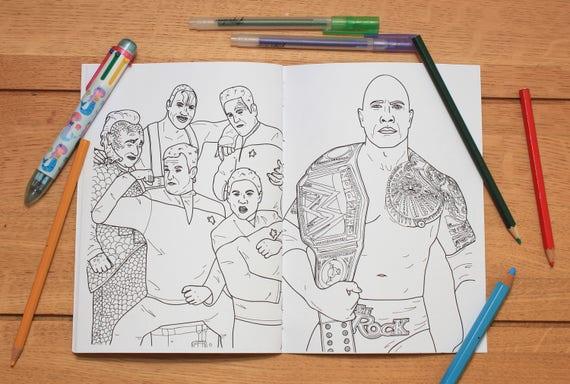 Dwayne Johnson Colouring Book