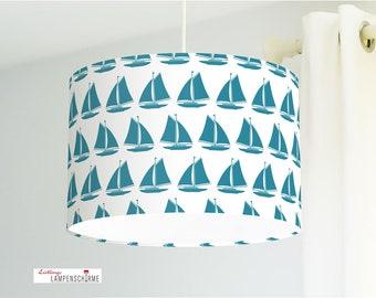 Paralume per camere per bambini con barche a vela in blu | Etsy