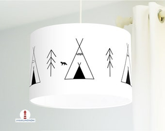 Lamp Children's Room Indian Tipi Tents made of organic cotton - all colors possible