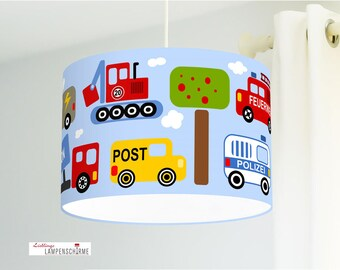 Lamp Car Nursery Light Blue made of organic cotton - all colors possible