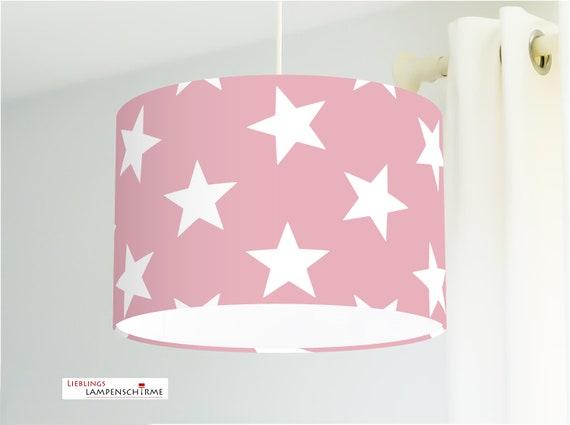 Lampe f rs kinderzimmer mit gro en sternen in altrosa aus for Sternen lampe kinderzimmer