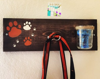 Dog Leash Holder and Treats or Bags Dispenser