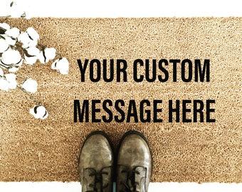 Custom Door Mat. Personalized Doormat * Hand-Painted Door Mat * Personalized Welcome Mat * Welcome Door Mat *Custom Welcome Mat
