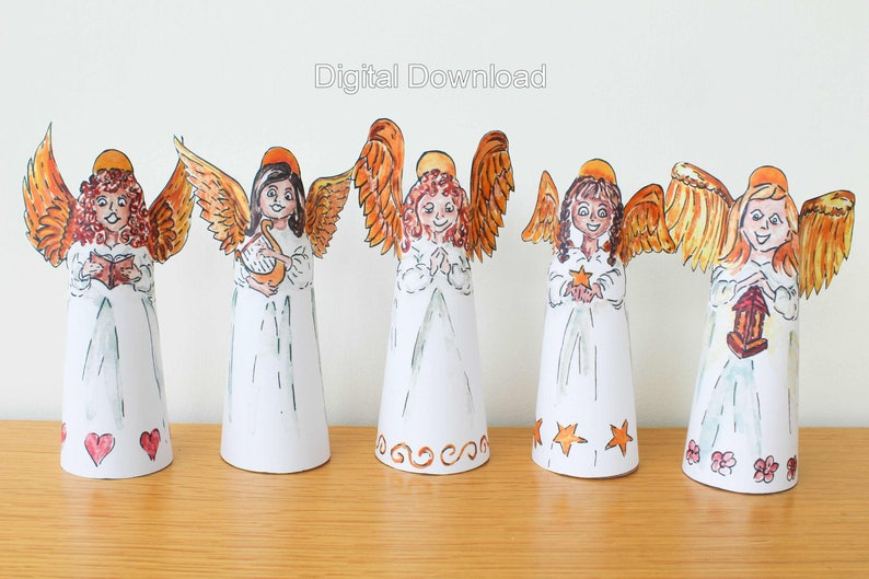 Digital Download Angel Decorations DIY Christmas Angels