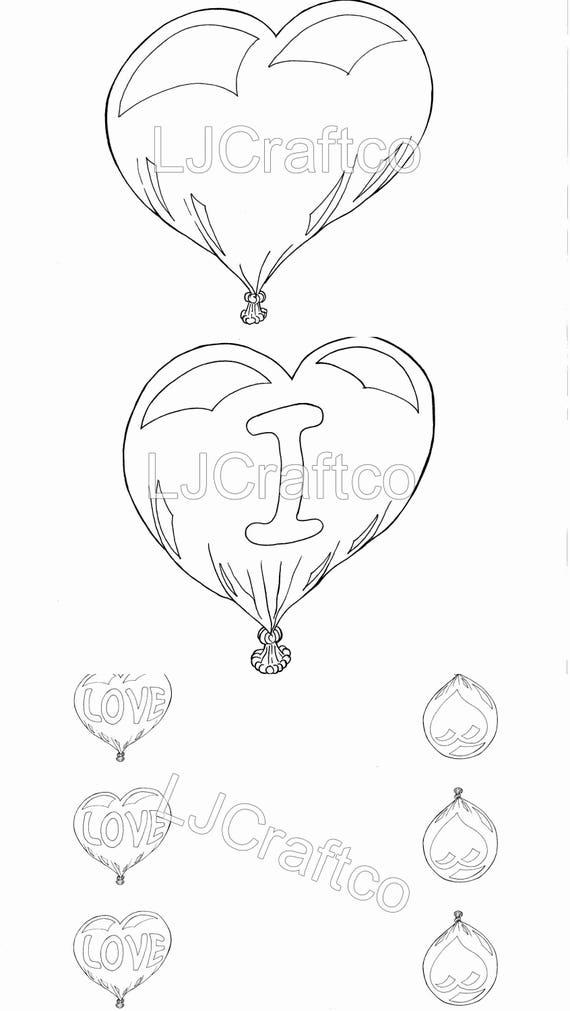 Valentinstag Herz Ballon Girlande digitale Download Liebe   Etsy