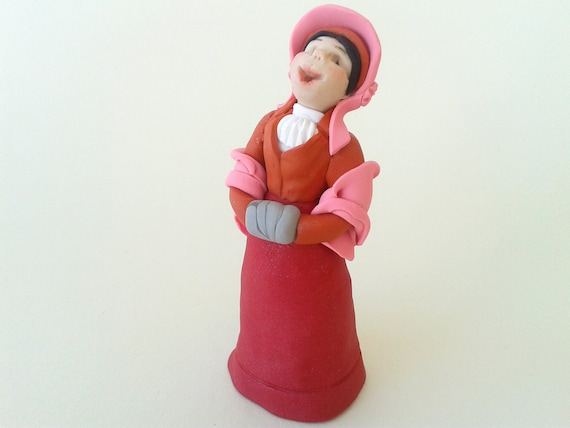 Christmas Carol Singers Ornaments.Polymer Clay Figure Christmas Decoration Ooak Holiday Decor Christmas Carol Singer Victorian Female Polymer Clay Figure Xmas Ornament