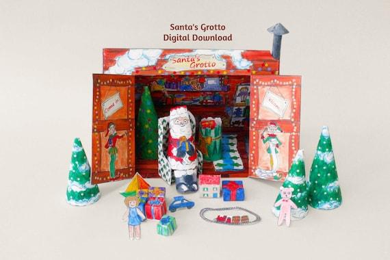 Santa's Grotto Model Kit Digital Download, Printable Christmas Decoration,  Instant Download Make it Yourself Santa Claus Paper House