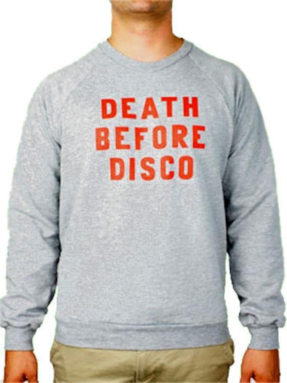 Death Before Disco Sweat Shirt Stripes Shirt New Etsy