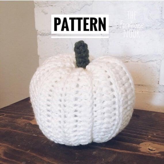 Farmhouse pumpkin pillow PATTERN Crochet pumpkin Pattern | Etsy