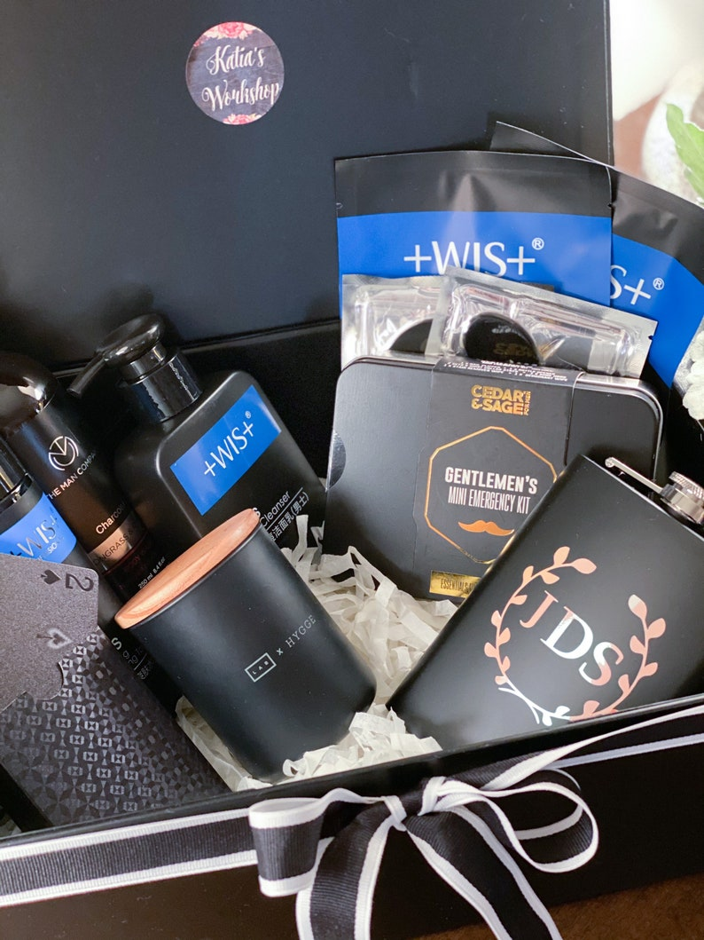 Gifts for Men skin care for men personalized flask selfcare products for men