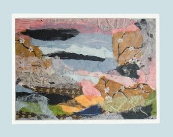 Medium-size unframed collages