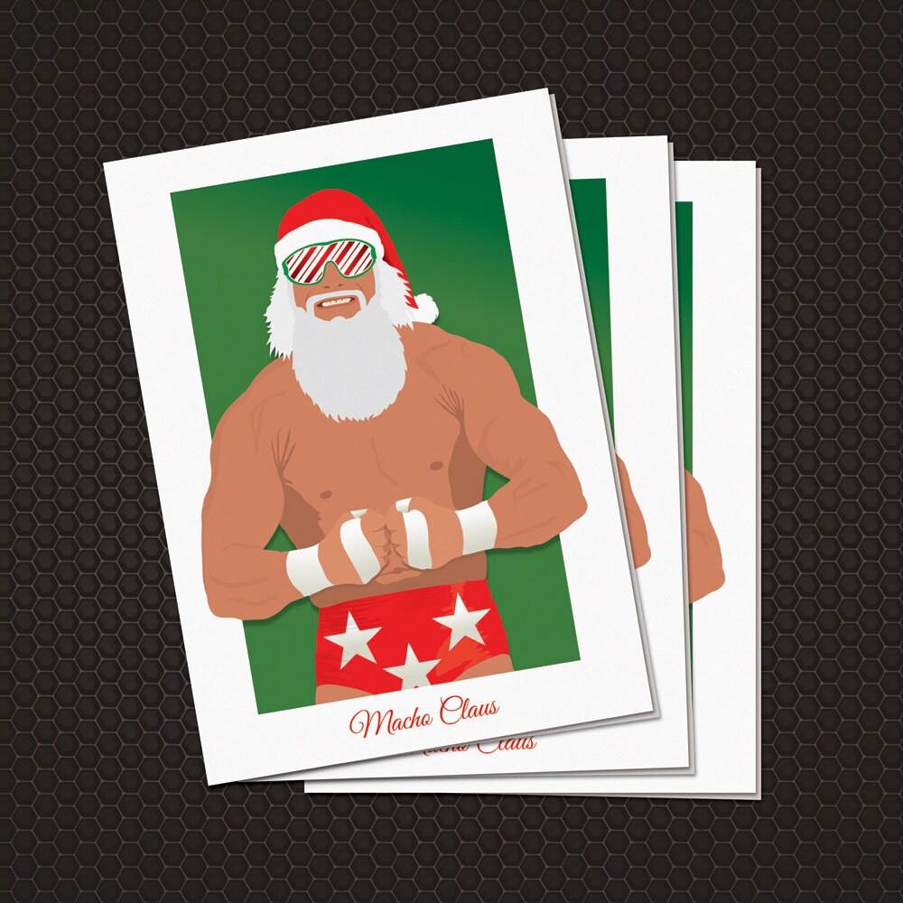 Macho Claus Christmas Card with Envelope Macho Man Randy | Etsy