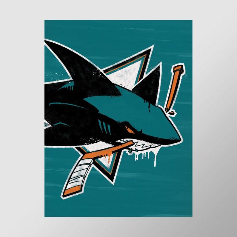 Graffiti Print San Jose Sharks Perfect for Mancave