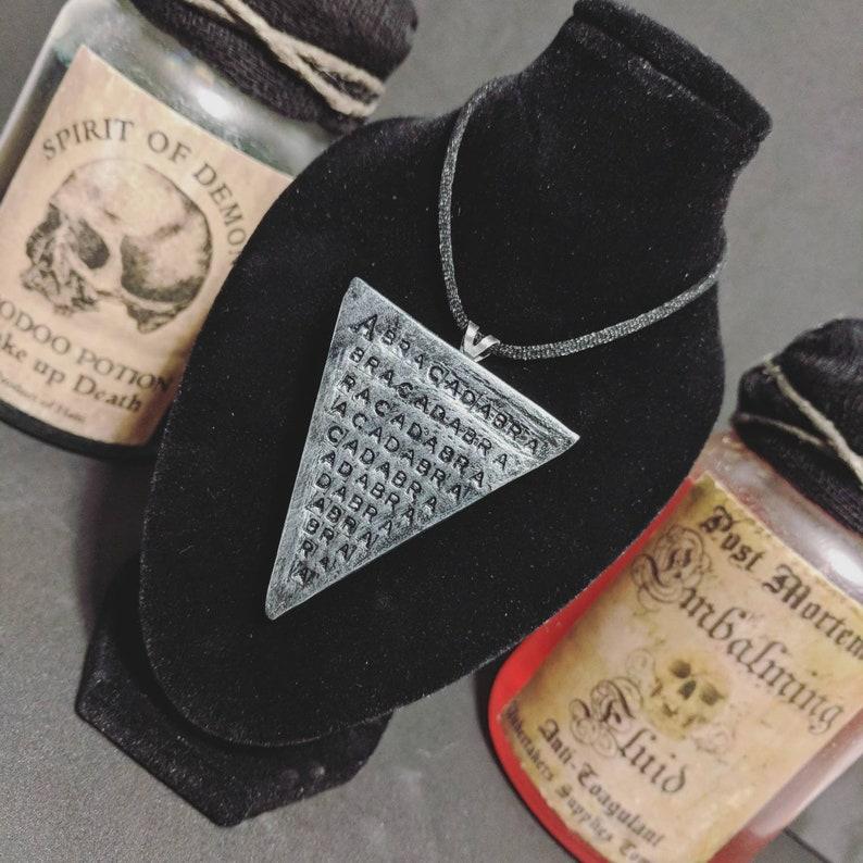 a751048bb34e Abracadabra Pendant Necklace Magic Witchcraft Monster