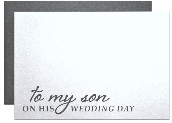 To My Son On His Wedding Day Card For Sons Wedding Gift Etsy