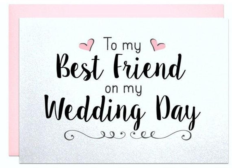 Wedding Card To Best Friend Thank You For Being There Bestie Etsy