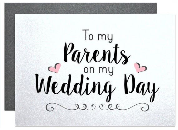 Thank You Card For Parents Of The Bride Gift To My Parents Etsy