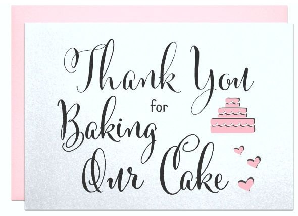 Thank You For Baking: Thank You For Being Our Baker Thank You For Baking Our