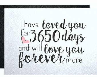 Boyfriend, husband, anniversary card, anniversary gifts for men, card for wife, card for girlfriend, man, greeting card loved you for days