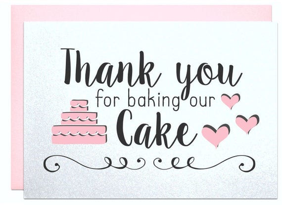 Thank You For Baking: Thank You For Baking Our Cake Thank You For Being Our