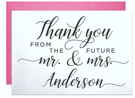 Personalized Thank You Cards From Bride And Groom Thank You Etsy