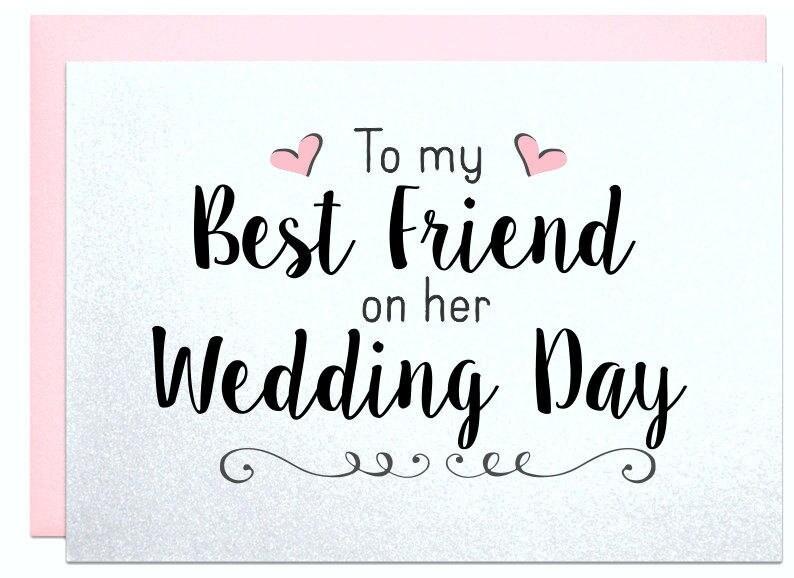 Wedding Gift Card For Best Friend Wedding Bridal Shower Gift Etsy