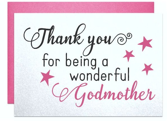 Card For Godmother Gift Note Thank You Being A Wonderful