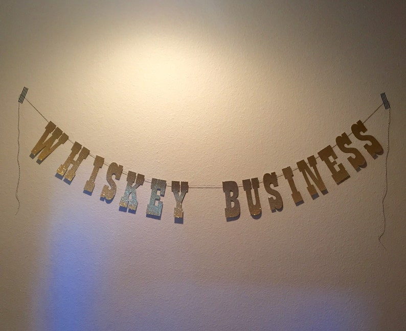 retirement party banner birthday party banner bachelor party bachelorette banner Whiskey Business Banner graduation banner