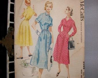 Vintage 1960s Shirtwaist Dress McCalls Pattern