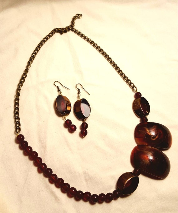 Burnt orange Wow and chains earrings included mouse Creative jewelry Quebec free shipping