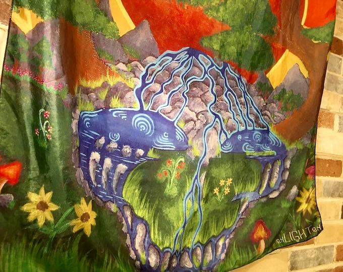 Sunshine Daydream Grateful Dead Tapestry, Design By Enlighten Artist Melanie Bodnar. Grateful Dead Tapestry and Bandana By Enlighten