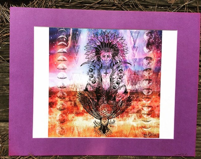Native Totem By Melanie Bodnar Enlighten Clothing Co Native American Art Wolf Art Flower Of Life Moon Art