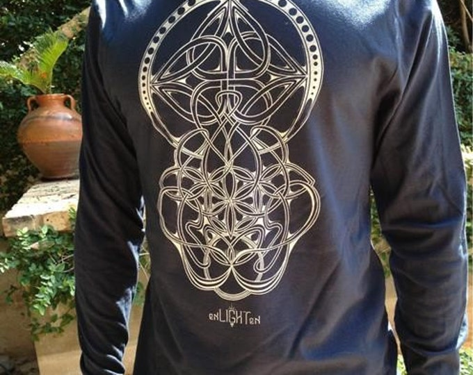 Trinity Sacred Geometry Longsleeve By Enlighten Clothing Company.
