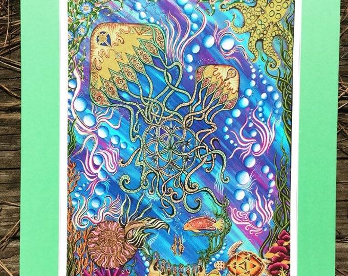 Jellyfishes Garden By Melanie Bodnar Enlighten Clothing Co