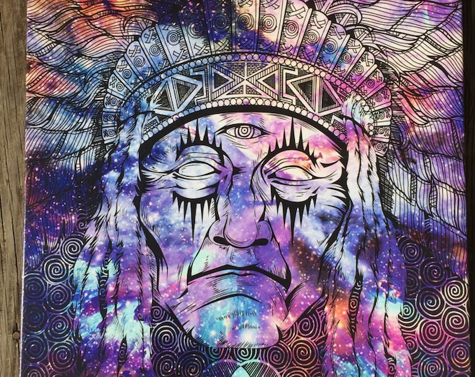 Native Chief Giclee Canvas Print